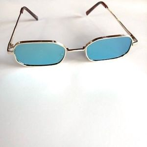 Accessories - BLUE-GREEN Rectangle Slim Mirror Lens Sunnies
